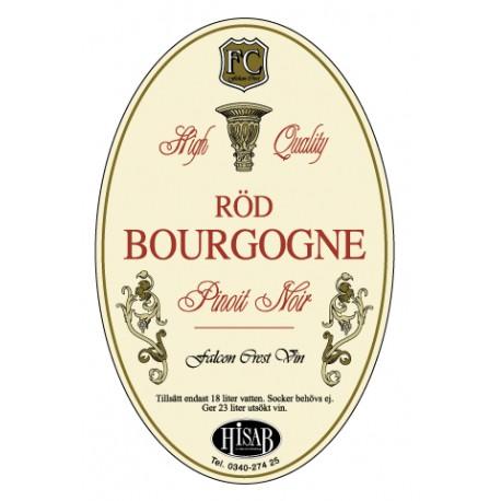 Pašlīmējošās etiķetes Rod Bourgogne vīnam 25gb.