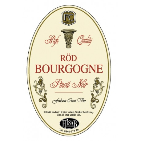 Stickers-labels for Rod Bourgogne wine 25pcs.