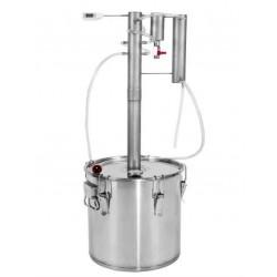 """Destilleerimise seade on valmistatud roostevabast terasest, """"KAKS"""" 30L"""