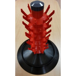 Stationary bottle dryer 48 pcs. red