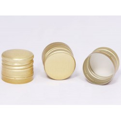 Lid Ø30 x h24mm for bottles with thread (gold)