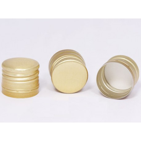 Lid ?30 x h24mm for bottles with thread (gold)