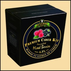 The Bulldog Brews Mixed Berries Cider kit for 23L (4.5%)