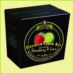 Bulldog Brews Strawberry/Lime Cider 23L zemeņu un laima sidra pagatavošanas komplekts (4.5%)