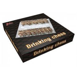 Стеклянные шахматы с рюмками (32 шт.)