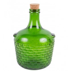 Decorative Glass Gallon Jug 4 L - green