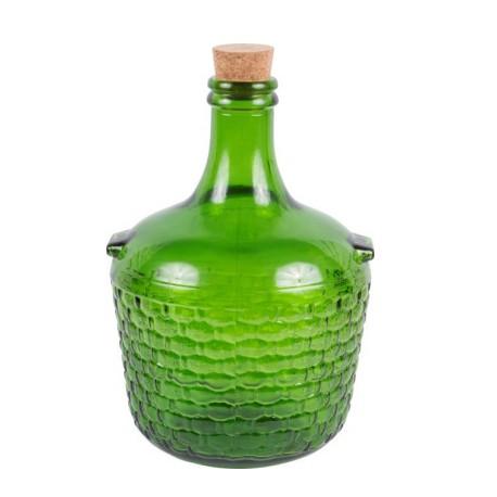 Stikla balons ar korķi 4L zaļš