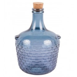 Stiklo balionas su kamštienos 4L mėlyna