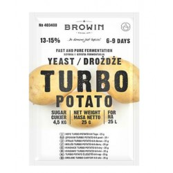 Raugs TURBO Potato uz 25L, 13-15%, 25g