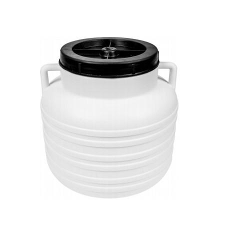 "Barrel ""Pickle"" - white, handles, 10 L"