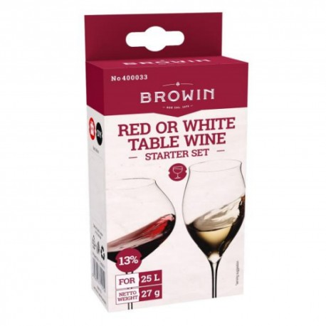 Red or white table wine starter set (for 25L) 13%