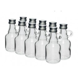 Stikla pudelītes 40ml ar skrūvējamu vāciņu 10gb.