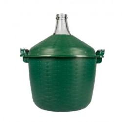 Klaasist pall rohelise korpusesse 15L