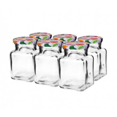 Glass jar 150ml with thread and cap ?53mm (6 pcs.)