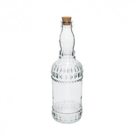 Stikla pudelīte 720ml ar koka korķi