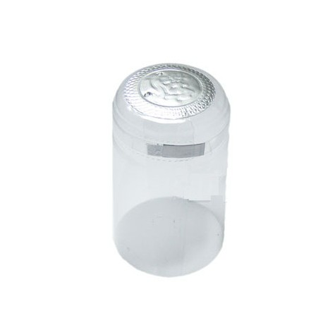 Transparent bottle caps with silver top 31x65mm 100pcs.