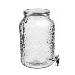 Dekoratīvā stikla burka limonādei ar krānu 5,7L