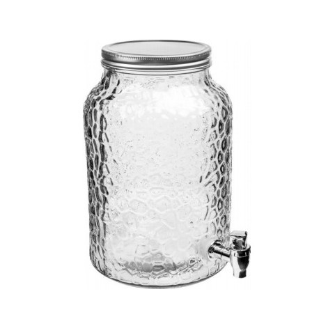 Decorative glass jar 5,7 L with tap