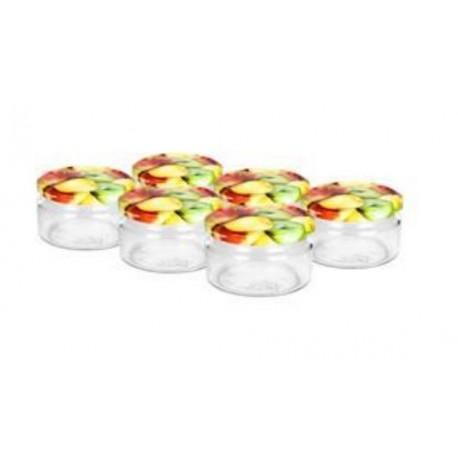 Glass jar 250ml (6 pcs.) with cap ?66
