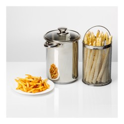 Multifunctional stock pot with basket 4L