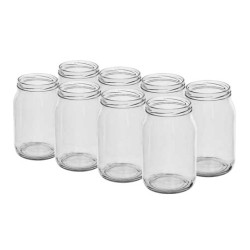 Glass jar 900ml (8pcs) with thread