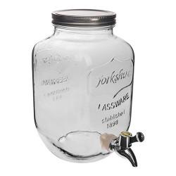 Dekoratīvā stikla burka limonādei ar krānu 4L