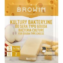 Baktēriju kultūras Gouda tipa sieram - 2x1g
