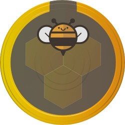 Kruvide kork purkidele Ød82, must mesilane