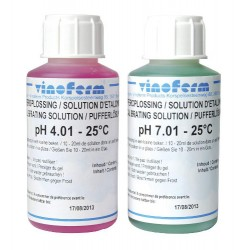 Calibration solution for pH, set of 2 x 100 ml