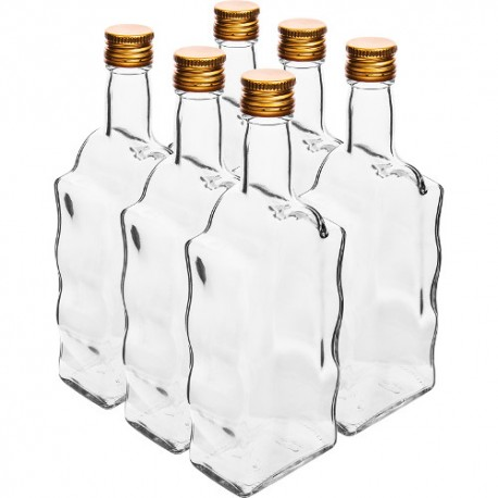 Stikla pudele 500ml ar korķi Ø28mm (6 gb.)