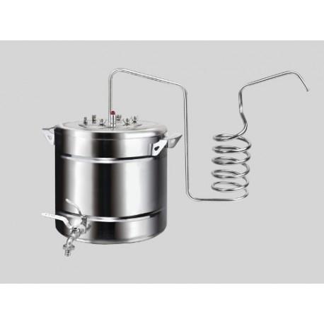 Destilācijas aparāts no nerūsējošā tērauda Vasarnīca Ekonom 20L