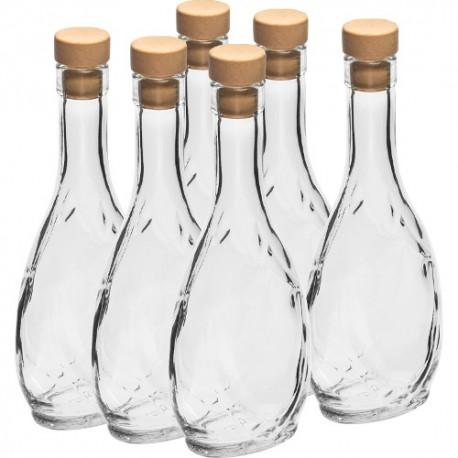 Stikla pudele 250ml ar T-korķi (iep.6gb.)