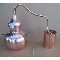 Destil?cijas apar?ts Coppers Traditional Alembic Still 5L ar ieb?v?tu termometru