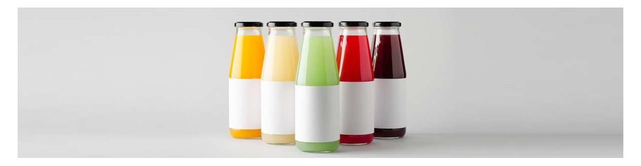 Juice bottles