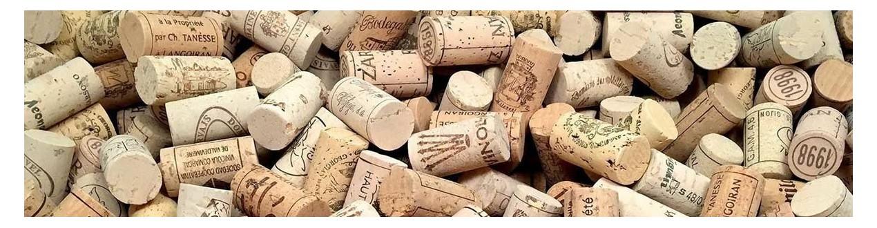 Vyno kamščiai ir dangteliai