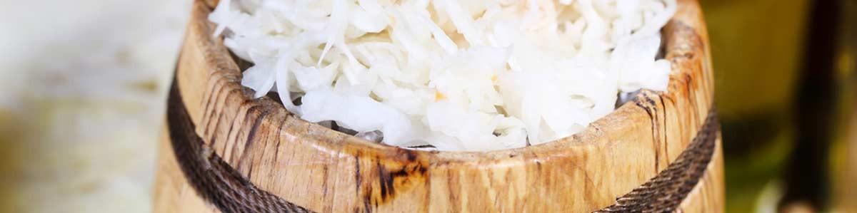 Oak barrels for sauerkraut