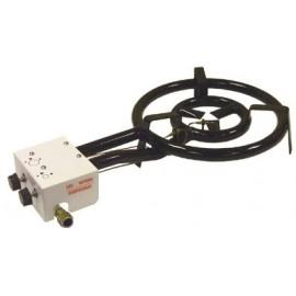 gasburner 40cm, but./prop., 13.5kw + flame-securit