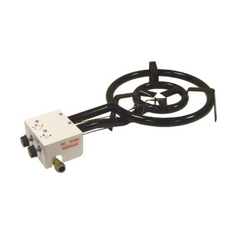 gasburner 60cm, kuid./prop., 25.5 kw + leek-securit