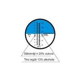 Refraktometras cukrui ir alkoholiui REF2