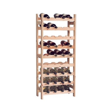 wine-rack wood for 36 bottles