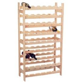 vynas-rack medienos 54 buteliai