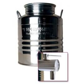 Stainless steel barrel 50 l + tap