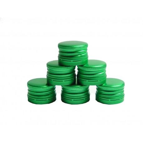 Užsukamas dangtelis Ø28 mm buteliams žalias 8 vnt.