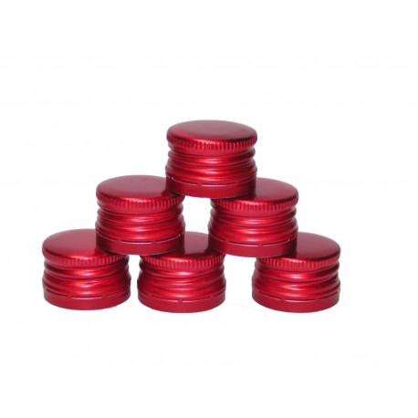 Screw cap for Ø28mm bottles red 8 pcs.