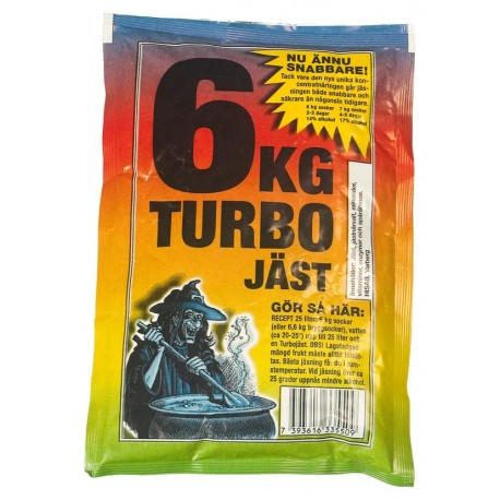 Turbo yeast 6 JAST - witch for 25 liters