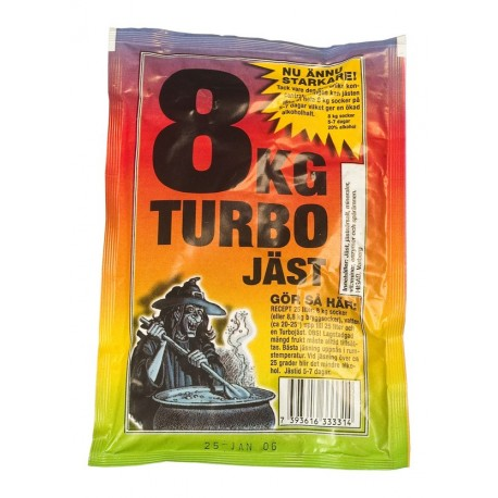 Turbo mielės 8 JAST 25 litrams