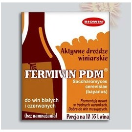 Yeast for wine FERMIVIN PDM (dry) universal 16% 7g