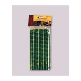 Thermocapsules for wine bottles Ø33x45mm, 100 pcs. (green satin)