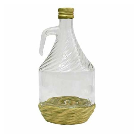 Pudel veini koos wicker-1L