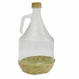 Flasche für Wein mit Geflecht 2L